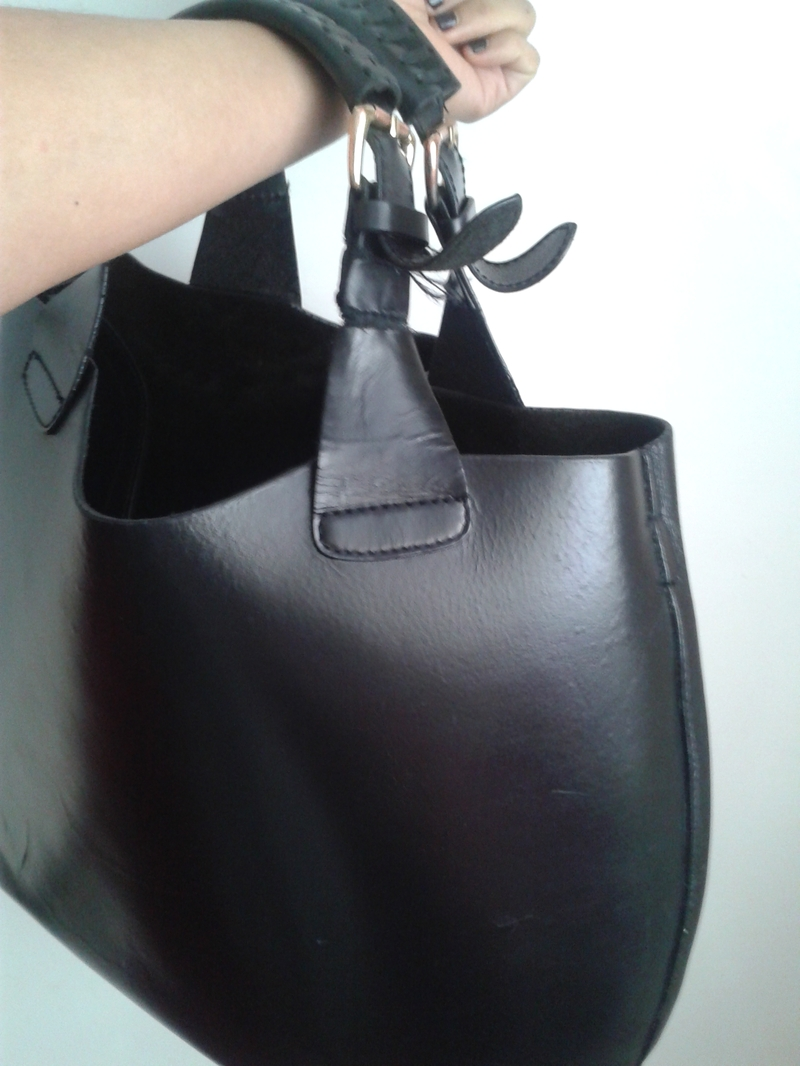Zara Black Bucket Leather Bag Review Review Clue