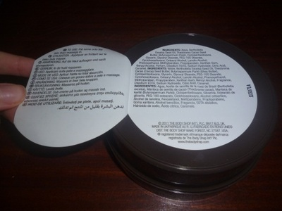 body shop butter brazil nut