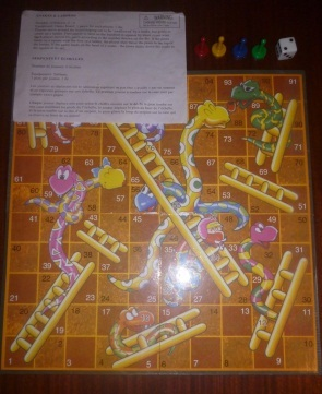 cardinal snakes and ladders tin game