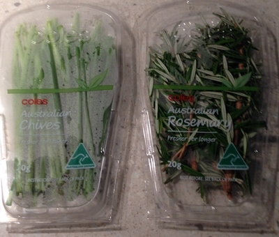 Two Packs Herbs Chives And Rosemary From Coles Review
