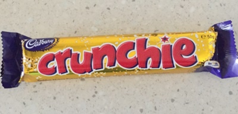 Crunchie Chocolate Bar by Cadburys