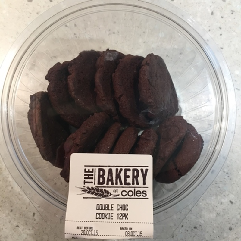 Double Choc Cookies from The Bakery Coles Review - Review Clue