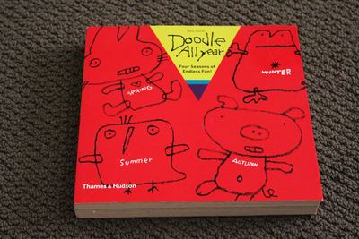 doodle all year, taro gomi, children's colouring books, children's activity books, presents for kids, imagination books