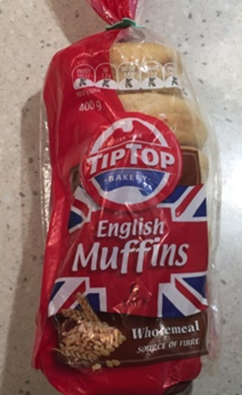 Tip Top Wholemeal English Muffins