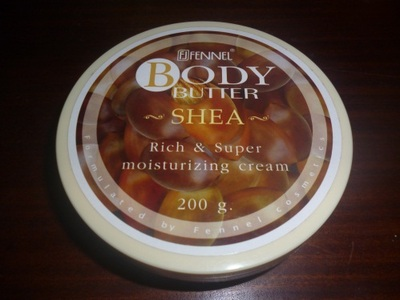 fennel olive oil body butter