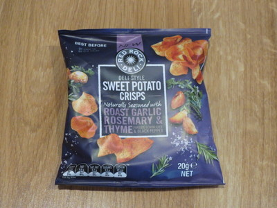 Red Rock Deli Roast Garlic, Rosemary and Thyme Sweet Potato Chips 20g ...