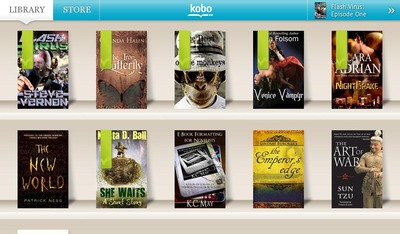 kobo, app, ereader, reader, categories