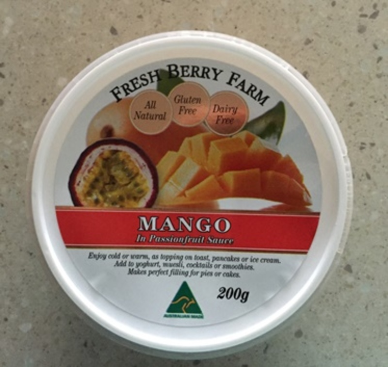 Mango in Passionfruit Sauce by Fresh Berry Farm
