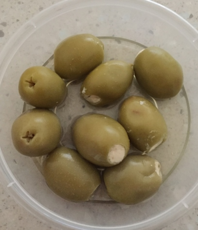 Olives Stuffed with Feta, from Coles Deli
