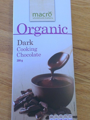 organic chocolate, macro wholefoods, cooking chocolate