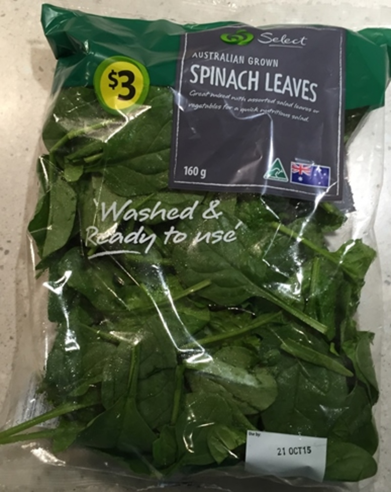 Coles Baby Spinach Leaves